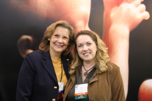 Salem Radio's own Janet Parshall with NRLC's own Olivia Gans at NRB 2009
